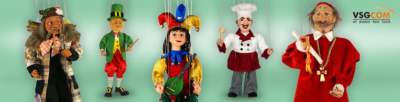 Plaster decorative marionettes