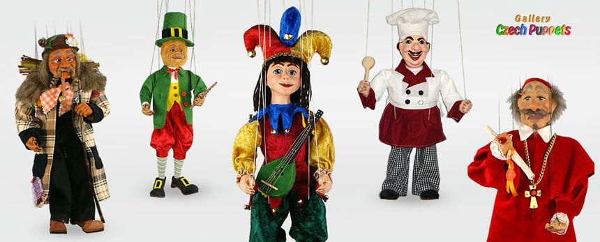Plaster decorative marionettes