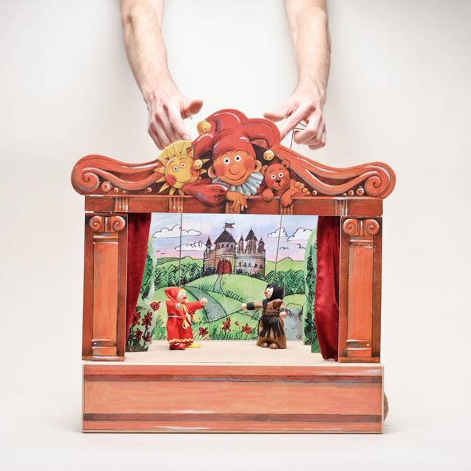 Buy Wooden Puppet Theaters Size 18 Quot Code Tge02 Site