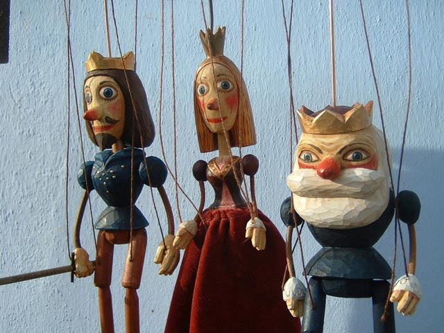Collection  3 marionettes puppets