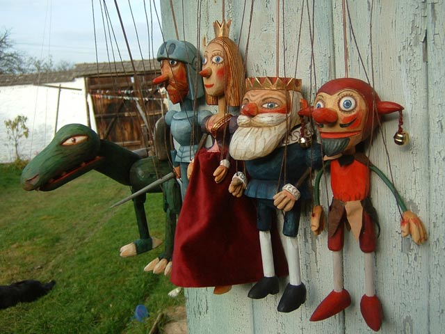 Collection  5 marionettes puppets