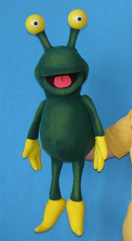 Alien foam puppet