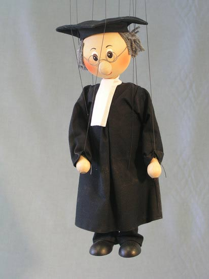 Barrister , marionette puppet