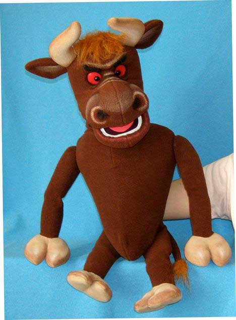 Bison foam puppet