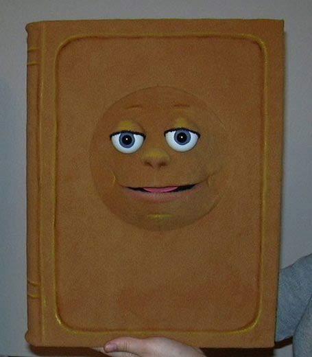 Book  ,  foam puppet doll