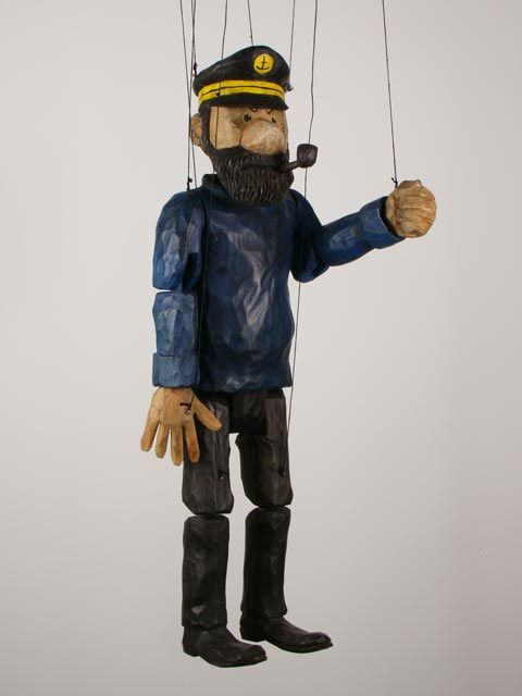 Captain Haddock ,  marionette puppet