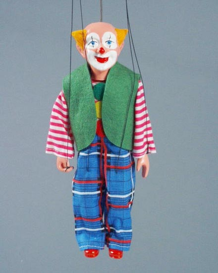 Clown , marionette puppet