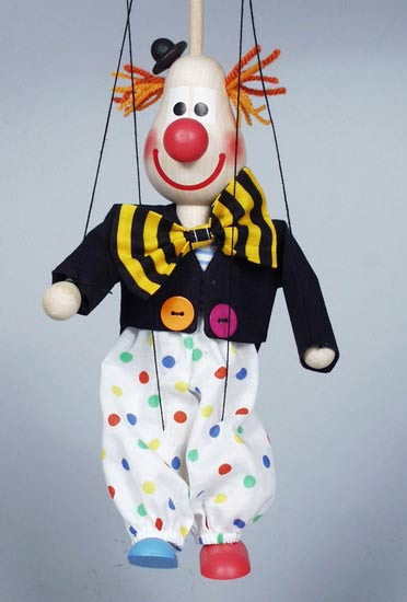 Clown , marionette puppet