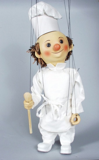 Cook , marionette puppet