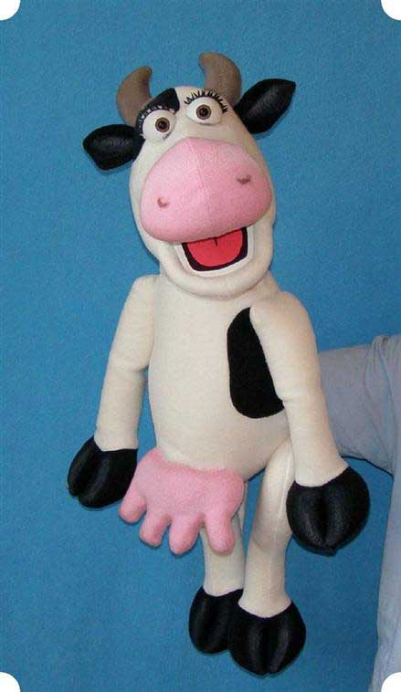 Cow ,  puppet doll