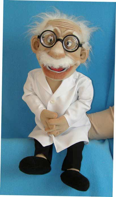 Doctor ,  foam puppet doll