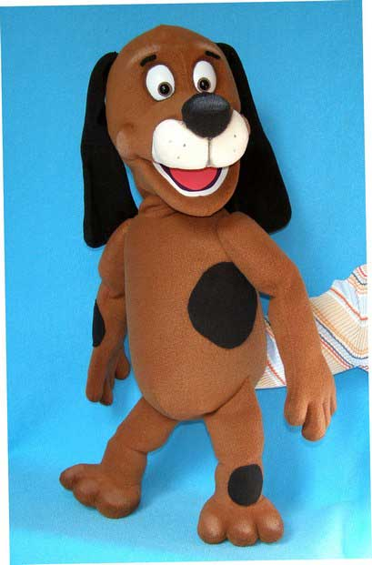 Dog foam puppet