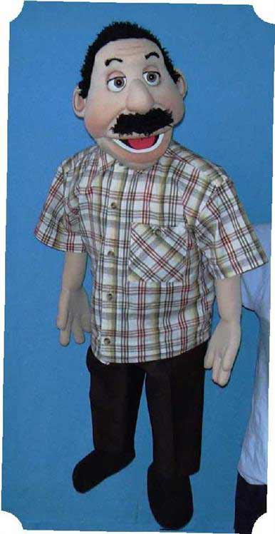 Edgar ,  foam puppet doll