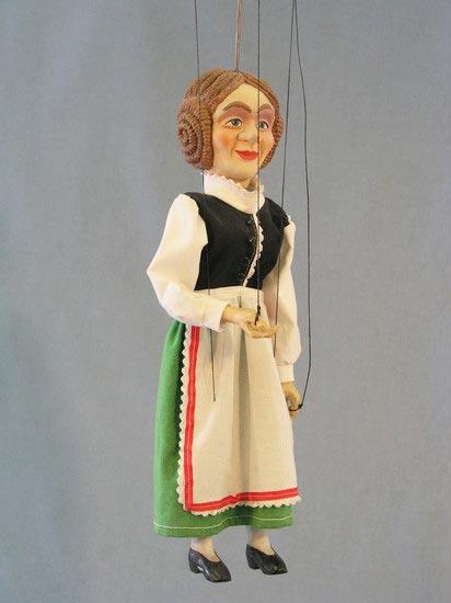 Farmer's wife  , puppet marionette