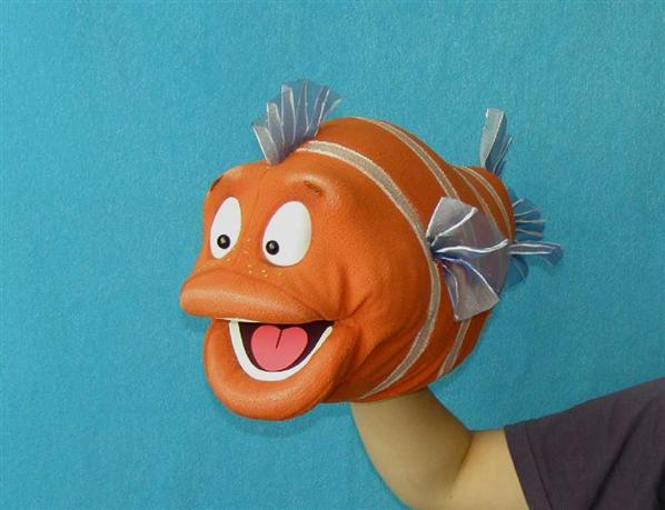 Fish ,  foam puppet doll