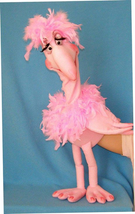 Flamingo foam puppet