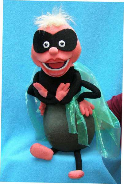 Fly Super Hero foam puppet