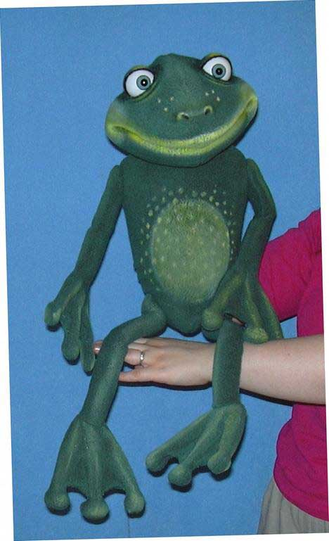 Frog ,  puppet doll