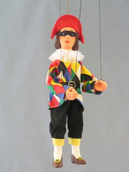 Harlequin marionette