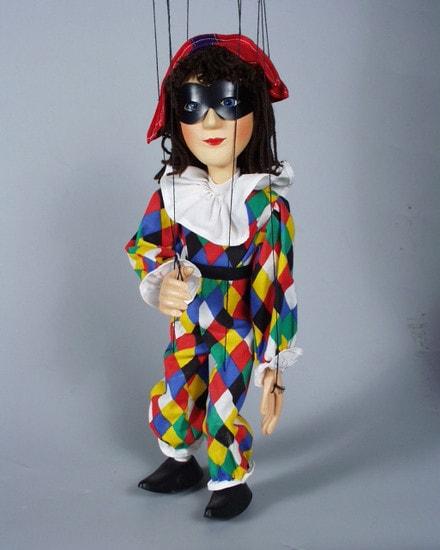 Harlequin , marionette puppet