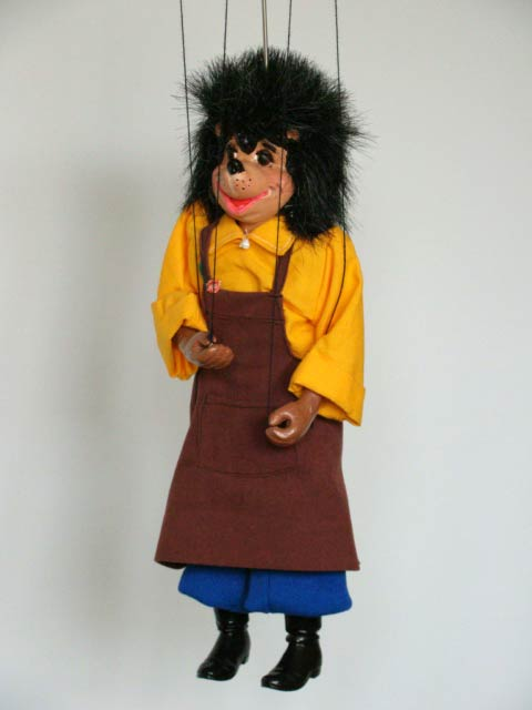 Hedgehog, marionette puppet