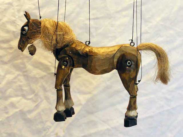Horse ,  marionette puppet