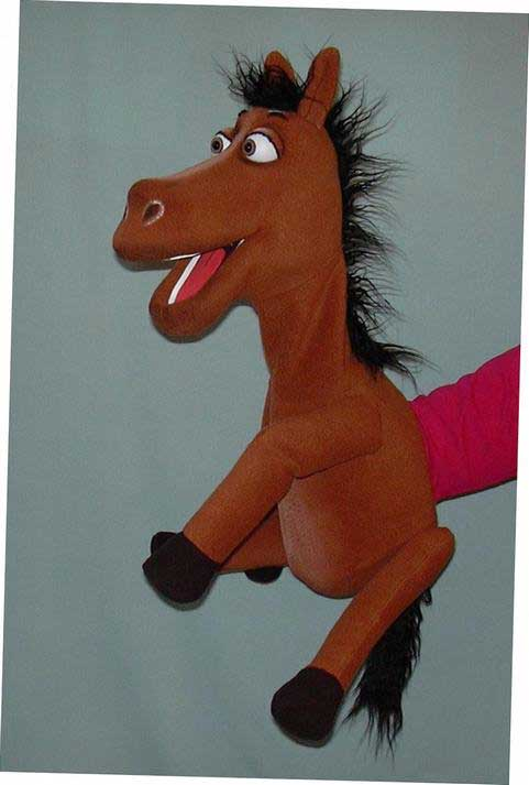 Horse ,  puppet doll