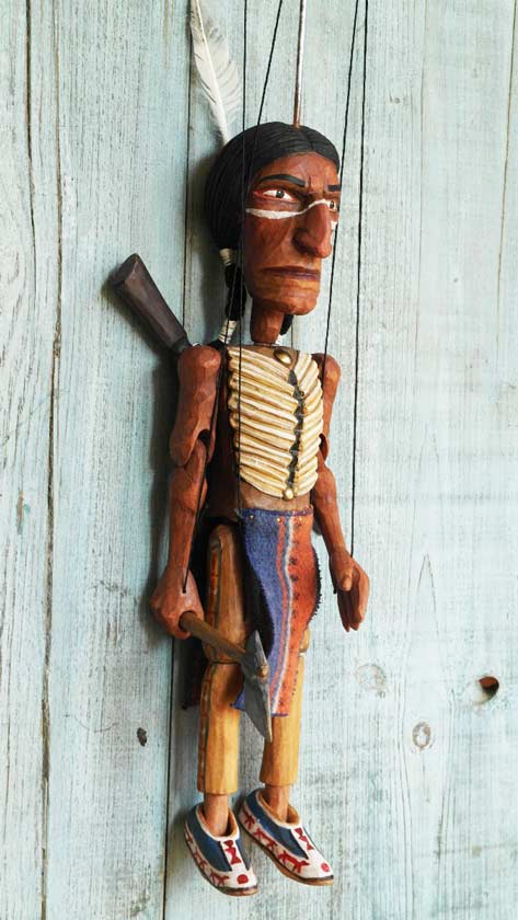 Indian wood marionette