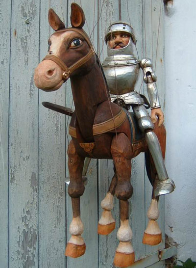 Knight ,  marionette puppet