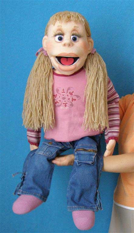 Mindy foam puppet
