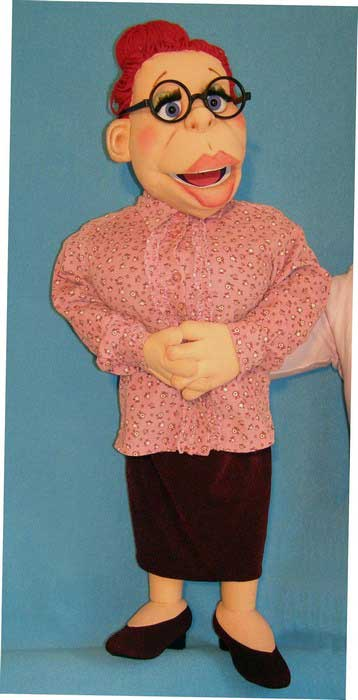 Miss Teacher ,  foam puppet doll