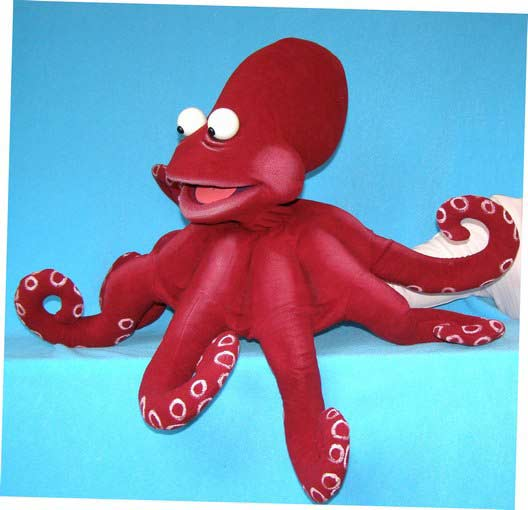 Octopus foam puppet