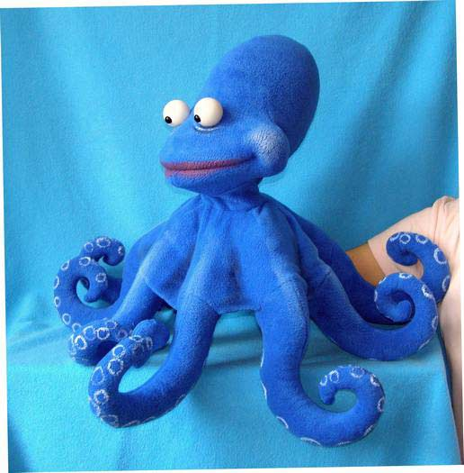 Octopus ,  foam puppet doll