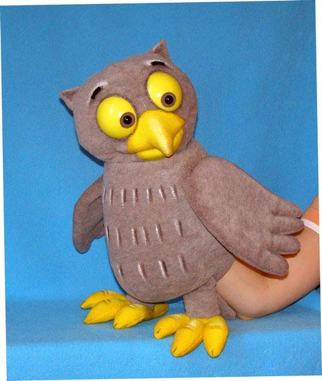 Owl ,  puppet doll