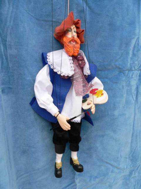 Painter , puppet marionette