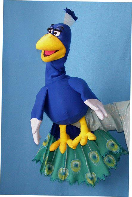 Peacock foam puppet
