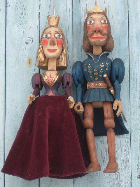 Prince and Princess marionettes