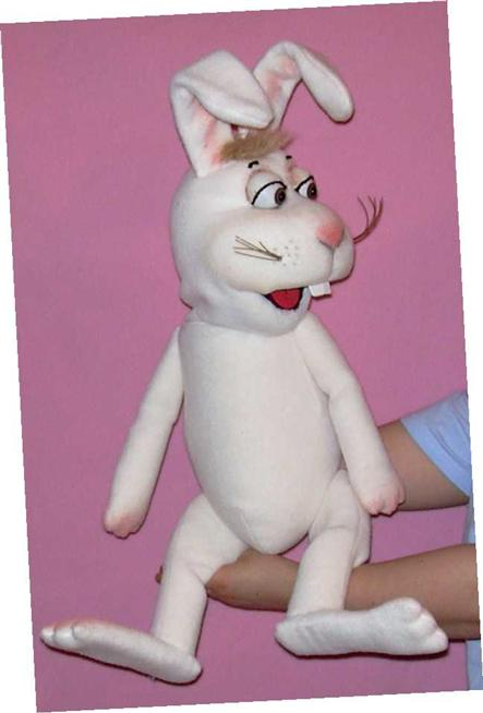 Rabbit foam puppet
