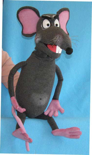 Rat foam puppet