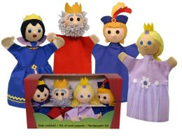 Set hand puppets King family
