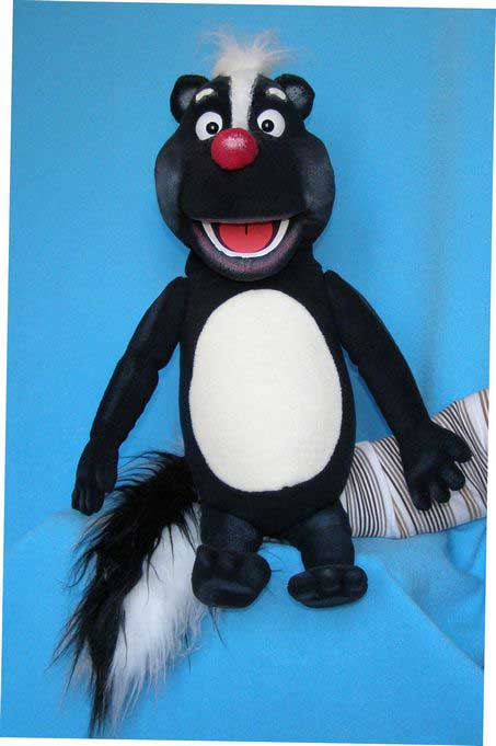Skunk,  puppet doll