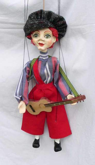 Guitar player marionette