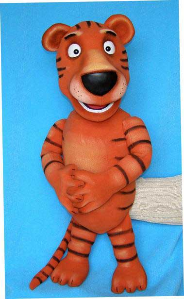 Tiger foam puppet