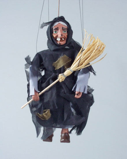 Witch , puppet marionette