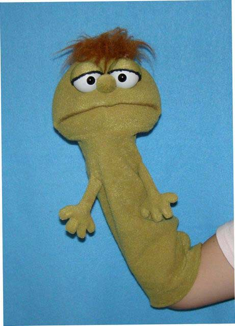 Worm foam puppet