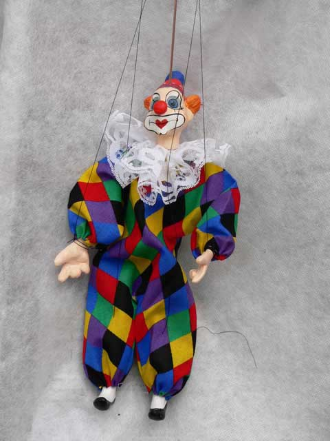 Clown , puppet marionette