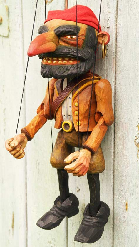 Pirate wood marionette