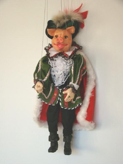 Pig, marionette puppet