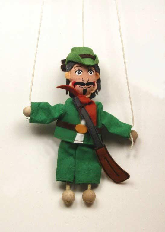 Hunter ,  puppet marionette