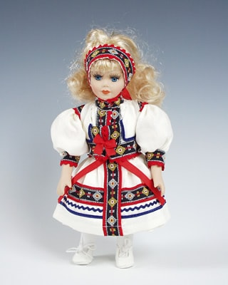 Kopanice, czech doll